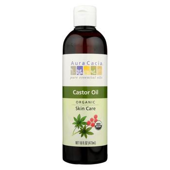 Aura Cacia - Skin Care Oil - Organic Castor Oil - 16 fl oz