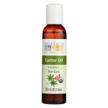 Aura Cacia - Skin Care Oil - Organic Castor Oil - 4 fl oz