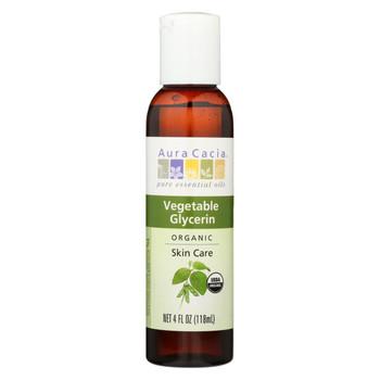 Aura Cacia - Skin Care Oil - Organic Vegetable Glycerin Oil - 4 fl oz