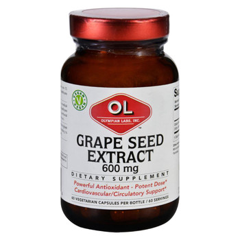 Olympian Labs Grape Seed Extract - 600 mg - 60 Vegetarian Capsules