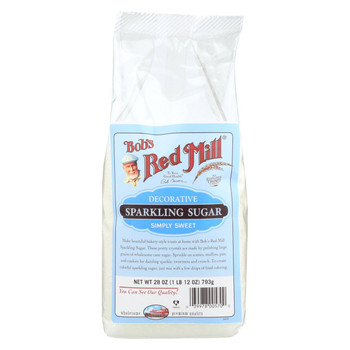 Bob's Red Mill Decorative Sparkling Sugar - 28 oz - Case of 4