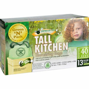 Eco-Friendly Bags Green N Pack Kitchen Bags - Tall - 40 Bags - 1 Count