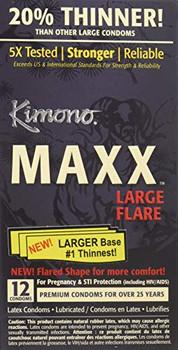 Kimono Condoms - Maxx - Large Flare - 12 Count