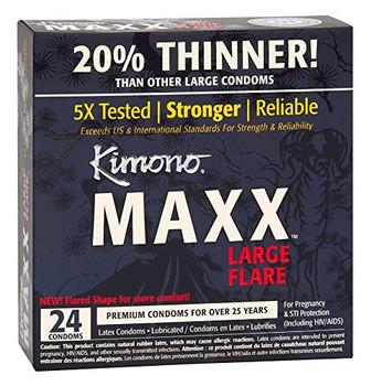 Kimono Condoms - Maxx - Large Flare - 24 Count