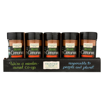 Frontier Herb - Cinnamon - Organic - Case of 15 - 1.90 oz