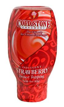 Cold Stone Creamery Dessert Topping - Indulgent Strawberry - Case of 6 - 11 oz.
