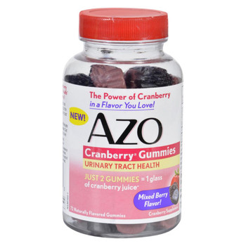 Azo Cranberry Gummies - 72 Count