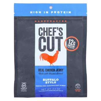 Chef's Cut Jerky - Chicken - Buffalo - Case of 8 - 2.5 oz