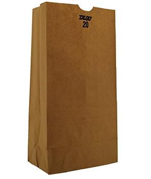 Duro Bag Brown Kraft Paper 20 Grocery Bag - 500 Count