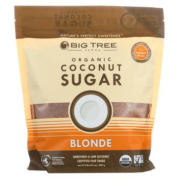 Big Tree Farms Organic Coconut Sugar - Blonde - Case of 6 - 32 oz.