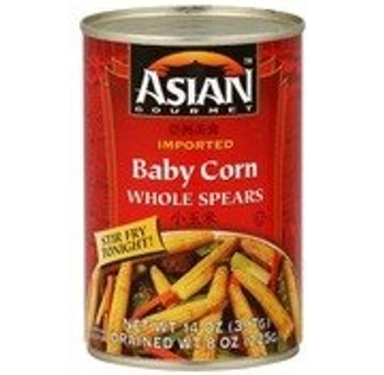 Asian Gourmet Baby Corn - Canned - Case of 12 - 14 oz.