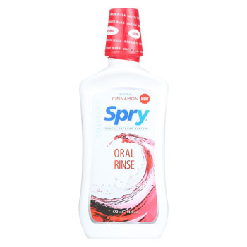 Spry Oral Rinse - Cinnamon - Case of 12 - 16 fl oz