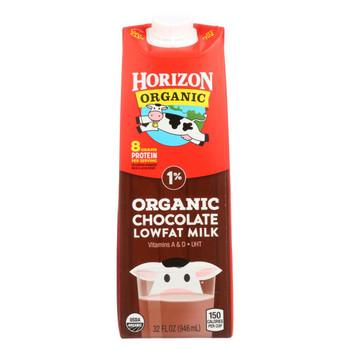 Horizon Organic Dairy Milk - Organic - Chocolate - 1% Asep - Case of 6 - 32 fl oz