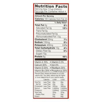 Horizon Organic Dairy Milk - Organic - Reduced Fat - Asep - Case of 6 - 32 fl oz