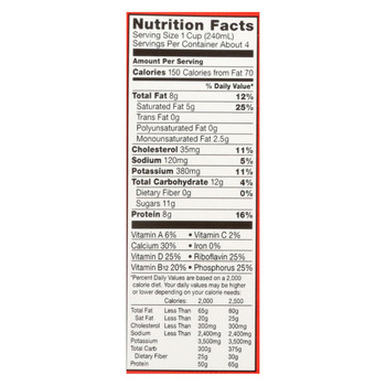 Horizon Organic Dairy Milk - Organic - Whole Milk - Aseptic - Case of 6 - 32 fl oz