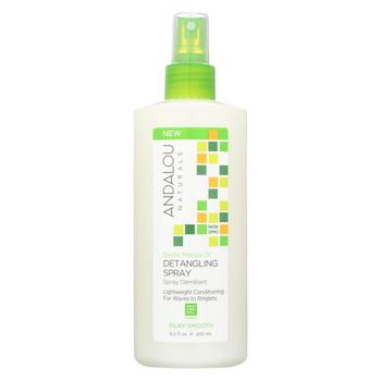andalou Naturals Silky Smooth Detangling Spray -Exotic Marula Oil - 8.2 fl oz