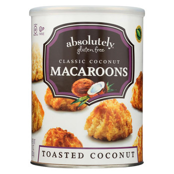 Absolutely Gluten Free Macaroons - Coconut - Classic - Case of 6 - 10 oz