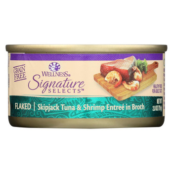 Wellness Pet Products Cat - Can - Tuna - Shrimp - Signature Selects - Case of 12 - 2.8 oz