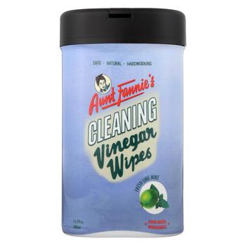 Aunt Fannies Vinegar Wipes - Lime - Mint - Case of 6 - 35 count
