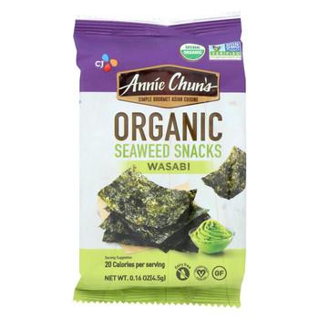 Annie Chun's Seaweed Snack - Wasabi - Case of 12 - .16 oz.