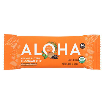 Aloha (Bars)  Peanut Butter Chocolate Chip - Case Of 12 - 1.9 Oz