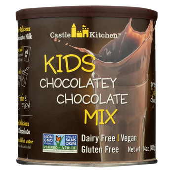 Castle Kitchen Foods Hot Chocolate - Kids Chocolately Chocolate - Case of 6 - 14 oz