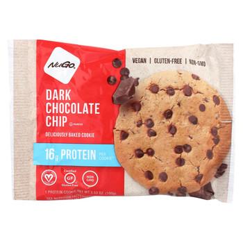 Nugo Nutrition Bar Cookie - Protein - Dark Chocolate Chip - Case of 12 - 3.53 oz