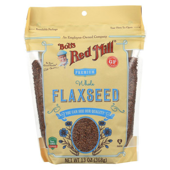 Bob's Red Mill - Flaxseeds - Gluten Free - Case of 6 - 13 oz