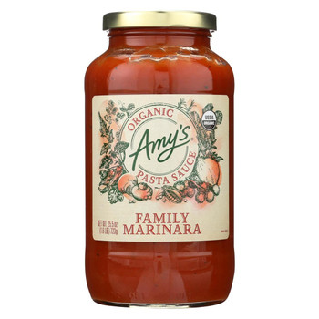 Amy'S Pasta Sauce Family Marinara - Case Of 6 - 25.5 Oz