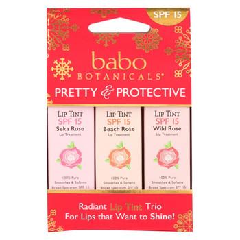 Babo Botanicals Tinted Lip Balm - Holiday - Case of 10 - .45 oz.