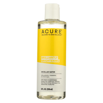 Acure - Microcellular Water - Brighten Argan Oil Mint and Coconut - Case of 1 - 8 fl oz.