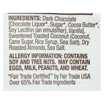 Bark Thins Snacking Chocolate - Dark Chocolate Coconut - Case of 12 - 2 oz.