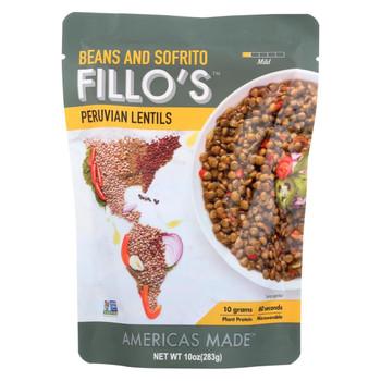 Fillo's Beans - Peruvian Lentils - Case of 6 - 10 oz.