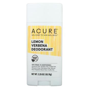 Acure - Deodorant - Lemon Verbena - 2.25 oz