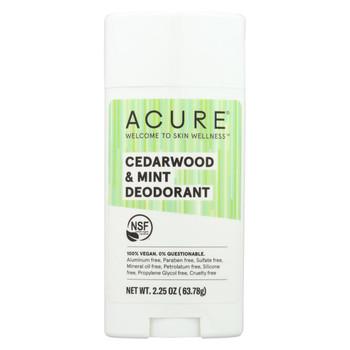 Acure - Deodorant - Cedarwood and Mint - 2.25 oz