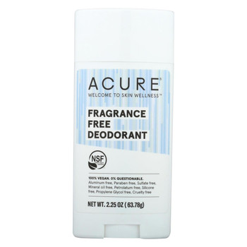 Acure - Deodorant - Fragrance Free - 2.25 oz