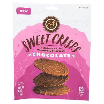 34 Degrees - Crisps - Dark Chocolate - Case of 12 - 4 oz.