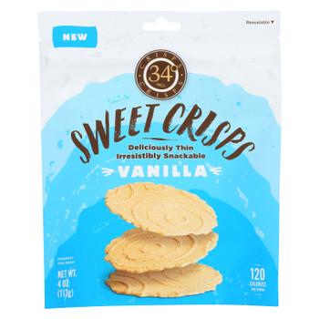 34 Degrees - Crisps - Sweet Vanilla - Case of 12 - 4 oz.