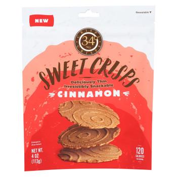 34 Degrees - Crisps - Sweet Cinnamon - Case of 12 - 4 oz.