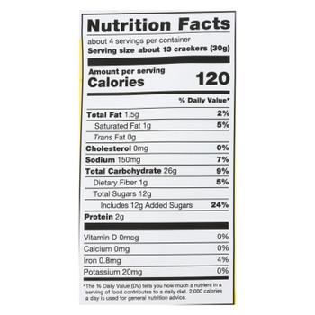 34 Degrees - Crisps - Sweet Lemon - Case of 12 - 4 oz.