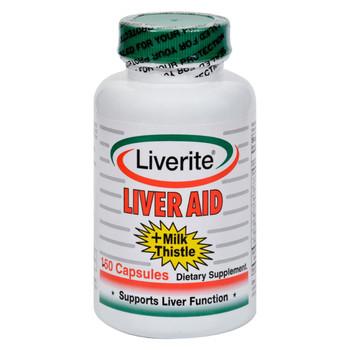 Liverite Liver Aid Plus Milk Thistle - 150 Capsules