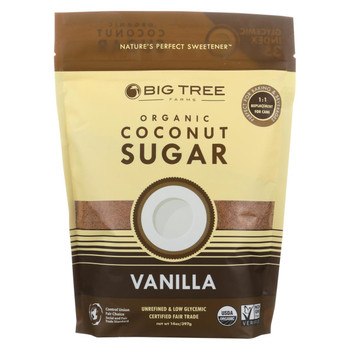 Big Tree Farms Coconut Palm Sugar - Vanilla - Case of 6 - 14 oz.