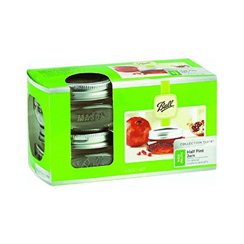 Ball Canning Jars - Platnm - Wide Mouth - 8 oz - Case of 4 - 4 count