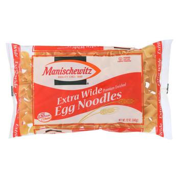 Manischewitz - Extra Wide Egg Noodles - Case of 12 - 12 oz.