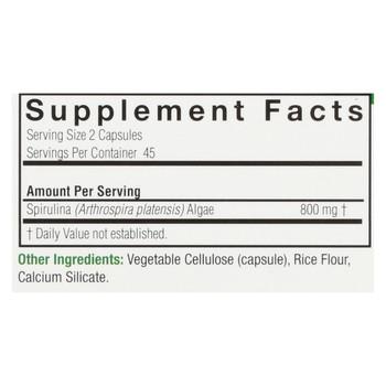 Nature's Answer - Spirulina - 90 Capsules