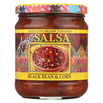 Amy's - Black Bean & Corn Salsa - Made with Organic Ingredients - Case of 6 - 14.7 oz