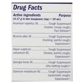 Boericke and Tafel - Cough and Bronchial Syrup - 8 fl oz