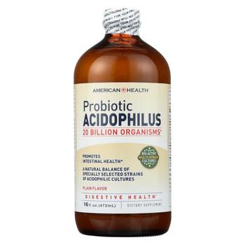 American Health - Probiotic Acidophilus Plain - 16 fl oz