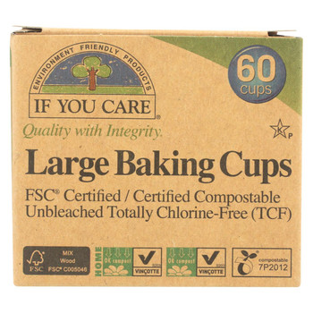 If You Care Large Unbleached Baking Cups - 60 Baking Cups