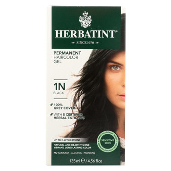 Herbatint Permanent Herbal Haircolour Gel 1N Black - 135 ml